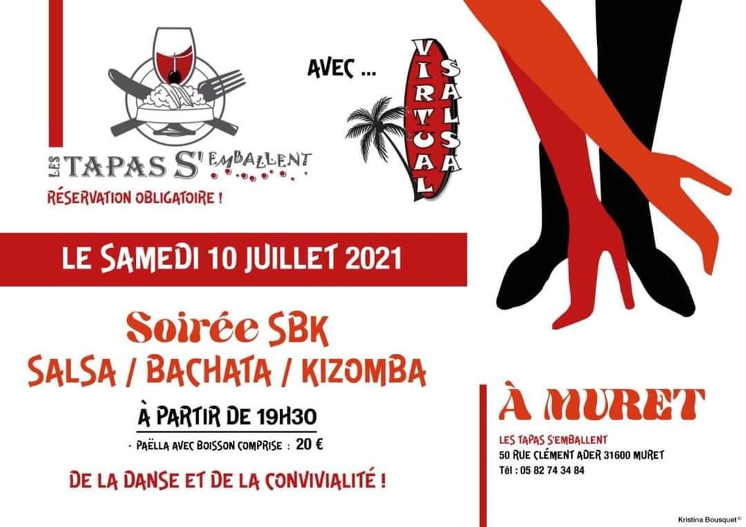 Soirée SBK = > Salsa, Bachata et Kizomba  le 10 juillet 2021