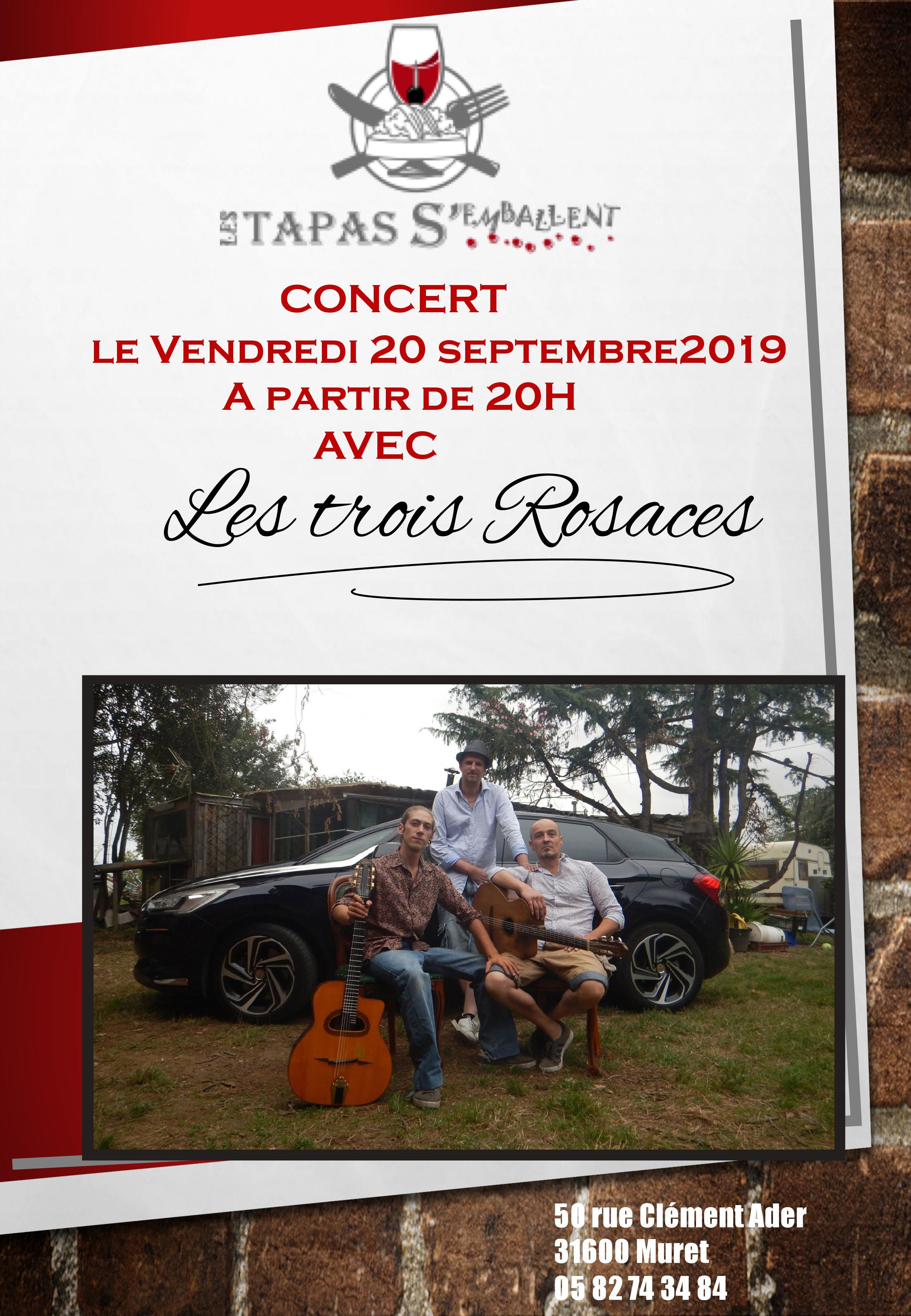 Concert Les Trois Rosaces