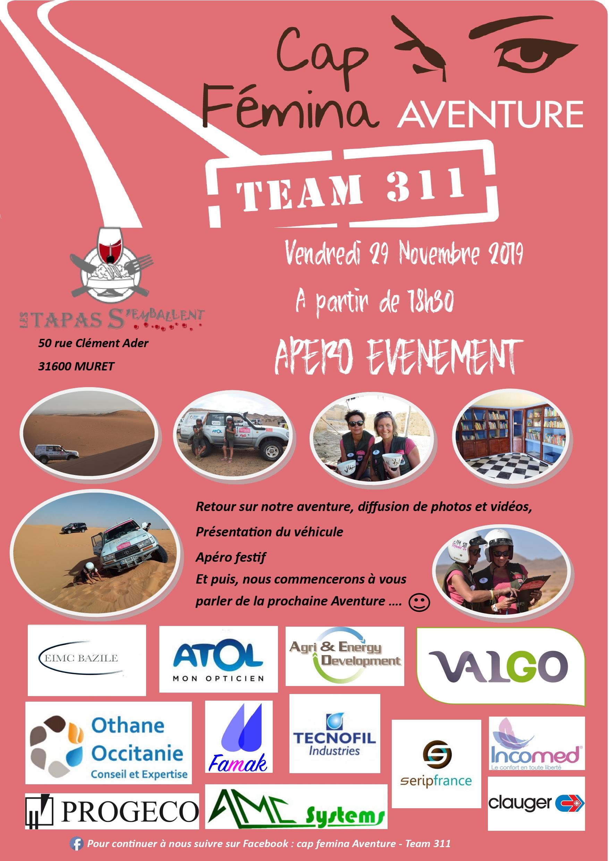 Apero Tapas avec la Team 311 pour le Cap Femina Aventure