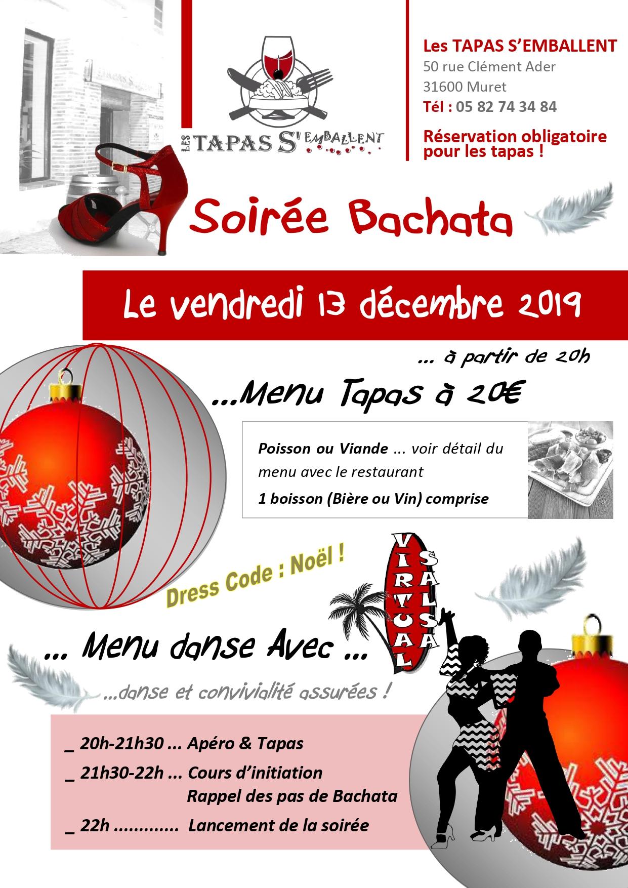 Soirée Bachata le Vendredi 13 décembre
