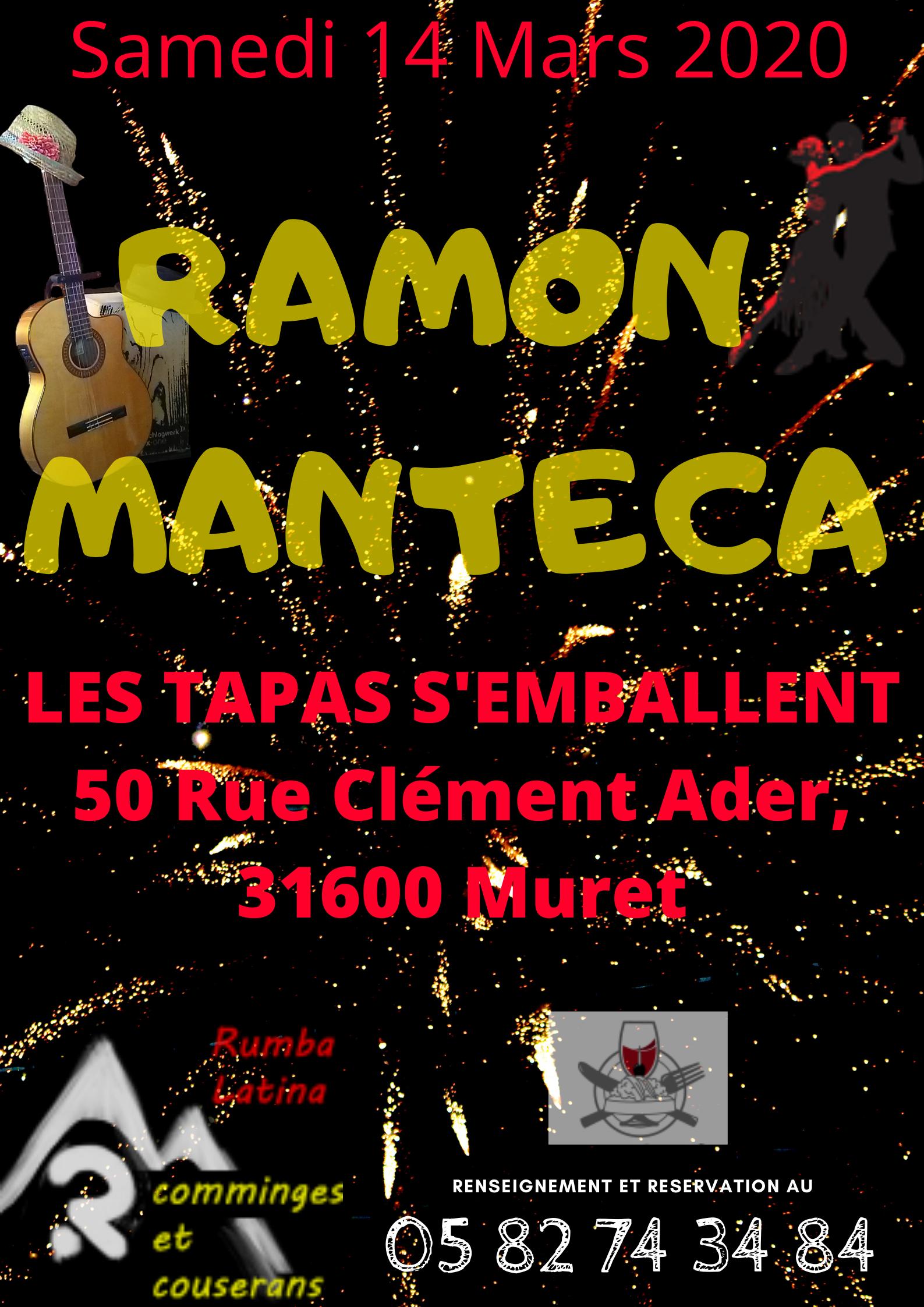 Rumba Flamenca avec le groupe RAMON MANTECA le 14 mars 2020
